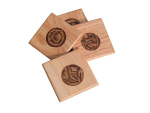 Bamboo Inlay Coasters by The Beehive India