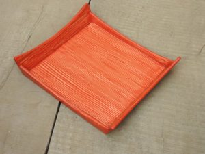 Red Wooden Tray by The Beehive India