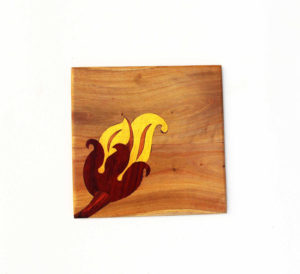 Wooden Inlay Trivet by The Beehive India