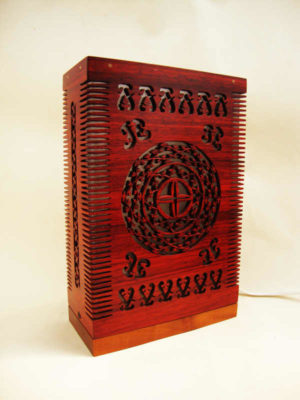 Handmade Wooden Comb Lamp by The Beehive India