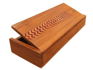 Zig Zag Wood Inlay Long Box by The Beehive India