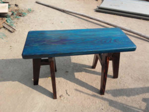 Wooden Colour Bench by The Beehive India