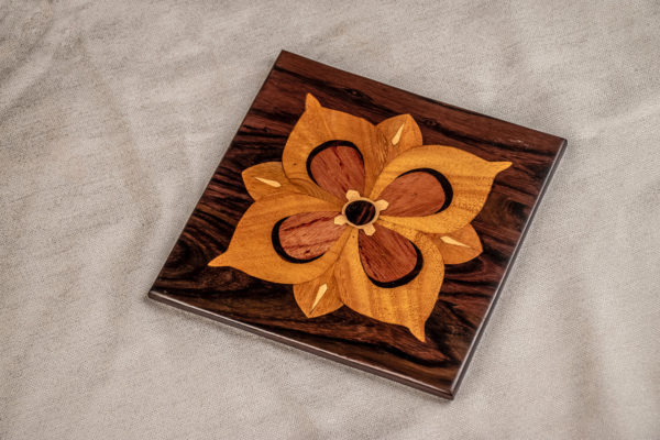 Handmade Wooden Trivet by The Beehive India