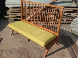 Wooden Fabric Sofa by The Beehive India