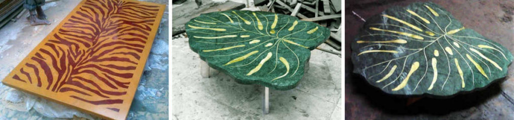 Stone / Marble Inlay Handicraft Table by The Beehive India