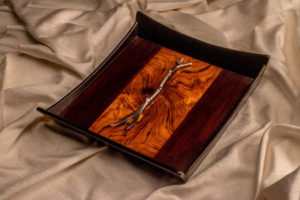 Wooden C.P. Teak Tray by The Beehive India