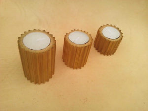 Bamboo Tealight Candle Holder by The Beehive India