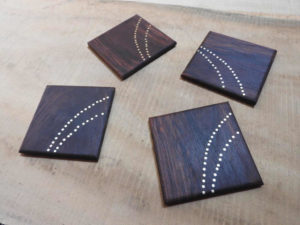 Wooden Tarkashi Inlay Coasters by The Beehive India