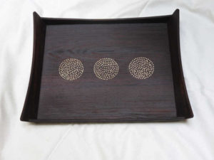 3 Circles Tarkashi Wooden Tray by The Beehive India