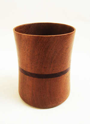 Wooden Round Cutlery Holder by The Beehive India