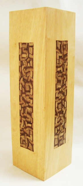 Bamboo Inlay Flower Vase by The Beehive India