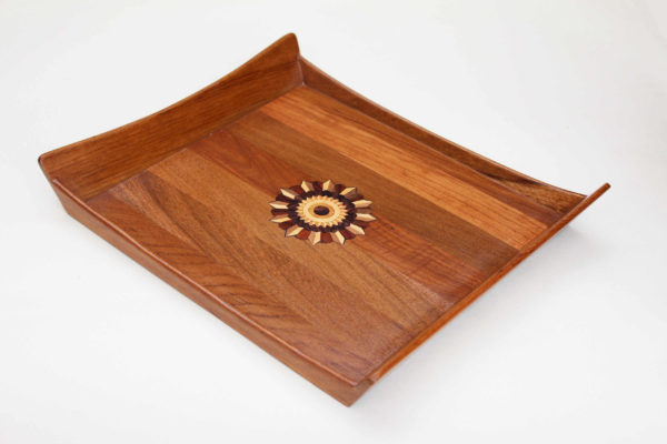 Wooden Inlay Tray by The Beehive India