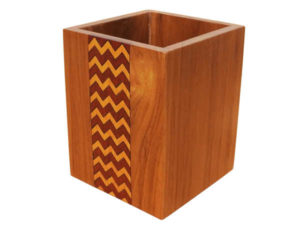 Wooden Inlay Cutlery Holder by The Beehive India