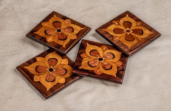 Handmade Wooden Inlay Coasters