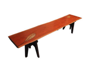 Wood Inlay Bench by The Beehive India