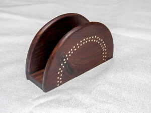 Handmade Tarkashi Napkin Holder by The Beehive India